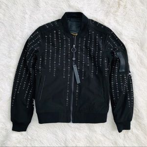 Blank NYC Black Grommet Detail Bomber Jacket NWT